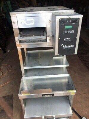 Lincoln Impinger 1921-m Countertop Conveyor Electric Pizza Oven W Steamer Cart