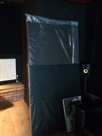 Black Cara Fabric Studio Acoustic Panels