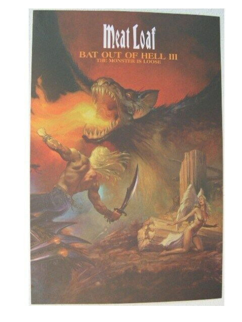 Meat loaf Poster Bat Out Of Hell III MeatLoaf Promo