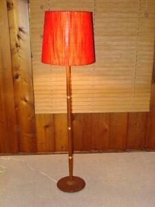 Mid Century Modern Teak Floor Lamp