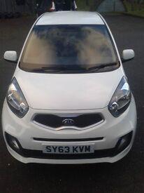 Kia Piccanto 2013. 3dr. White. Petrol. < 9500 miles. Great little car!