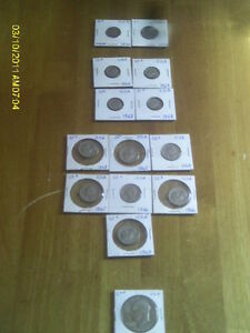 LOT DE 15 PIECES DE COLLECTION DES U.S.A
