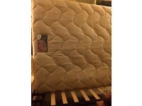 King size bed and mattress, 4 drawers storage divan, smoke free, pet free