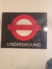 Perspex London Underground Sign