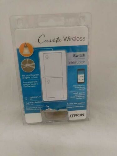 New Lutron Caseta Wireless Switch (PD-5ANS-WH-R) Control Lights or Fans