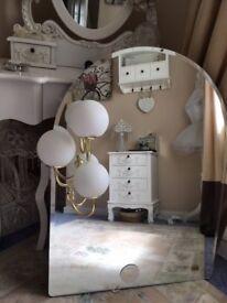 Italian Designer VECA Hand Crafted Mirror with lights