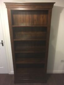 As NEW, Mint all solid Oak Tall Bookcase. RRP £449.99, Selling for £250 for quick sale.