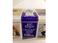 Vintage *CADBURY'S CHOCOLATE FINGERS* 1980s RETRO VGC Empty Collectable Biscuit Tin