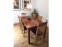 HEALS SOLID WALNUT DINING TABLE