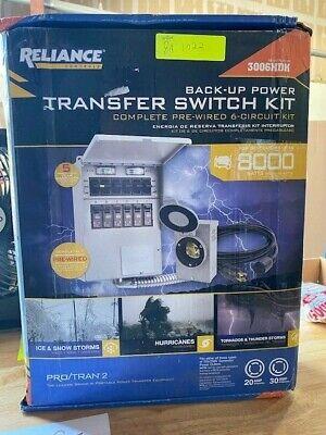 Reliance Back-up Power Transfer Switch Kit 3006hdk New8a.1022