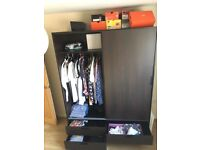 Dark brown - IKEA Trysil Wardrobe 154cm