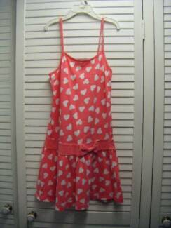 GIRLS CLOTHES-SIZE 12 HEART PATTERNED SUMMER DRESS