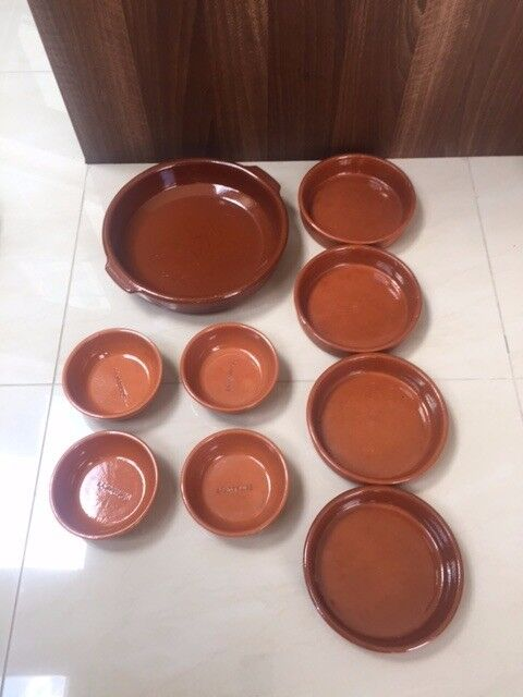 Selection of 9 Terracotta Baking/Tapas dishes. Collect from Fulham