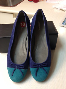 Two-toned Suede Flats - NEW