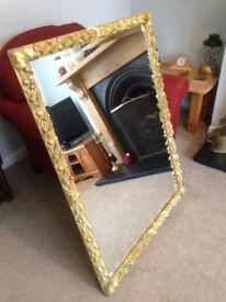 Very Large Gilt Framed Mirror
