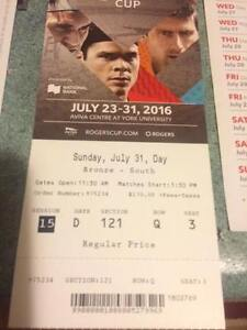 Rogers Cup - finals TWO TICKETS