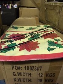 Wholesale Disposable Christmas Tablecloths - 6 foot by 4 foot