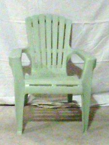 Kids chairs light green colour