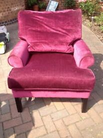Wades pink armchair