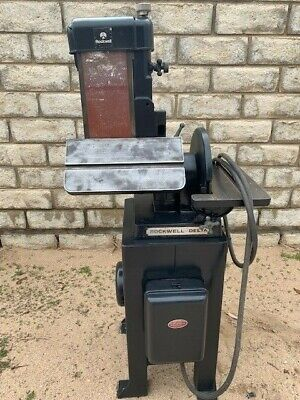 Used Rockwell 6 Belt And 12 Disc Sander Model 31-710 1.5 Hp