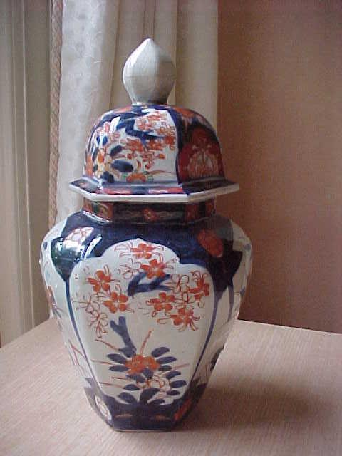 antique Japanese covered Imari jar