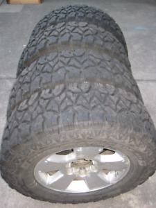 GoodYear Fierce Attitude M/T  LT 265 70 17 on Tacoma Alloys