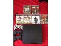 PlayStation 3 Slim 160GB Charcoal Black Console + Controller & Games