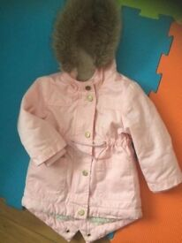 Baby girls coat from mothercare 6-9 months