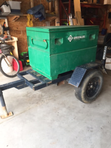 Utility Trailer with job box