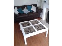 Butterfly coffee table solid wood... white