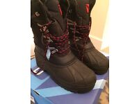 Campri Black Snow Boots Size 7 - Brand New