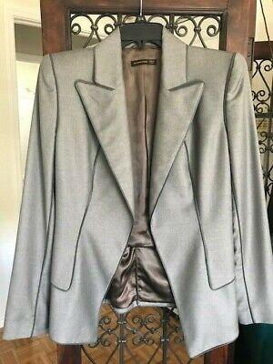 Unique Vintage Alexander McQueen Women Gray Fitted Blazer - Size 44 / 8 US
