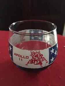Vintage APOLLO 11 Neil Armstrong FIRST MAN ON THE MOON Glass Edmonton Edmonton Area image 1