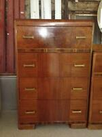 WATERFALL STYLE HIGHBOY DRESSER