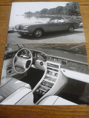 ROLLS ROYCE CORNICHE IV  ORIGINAL PRESS PHOTOS X 2