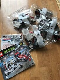 Parts of Lego Speed Champions (from kit 75876 Porsche Pit Lane)