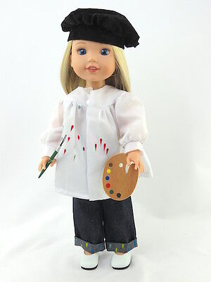 Artist Outfit Set Fits Wellie Wishers 14.5