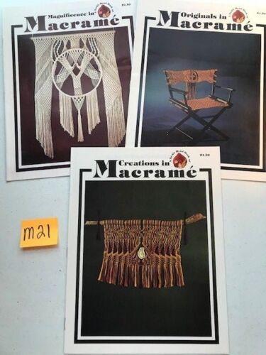 Lot of 3 Vintage Macrame Pattern Instruction Booklets Turk