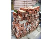 Reclaimed red bricks-late Victorian.