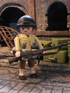 PLAYMOBIL-CUSTOM-US-SUBOFICIAL-2NTH-INFANTRY-DIVISION-1942-1943-REF-0155-BIS