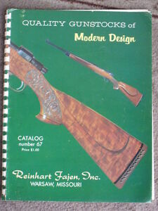 Reinhart Fajen Quality Gunstocks of Modern Design Catalog Number