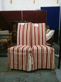 Stylish red & cream strped chair 2 available