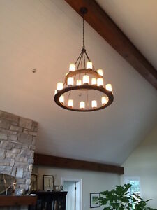 18 Light Chandelier in Old Iron Finish