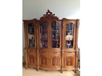 Antique Storage Cabinet Glass/Wood