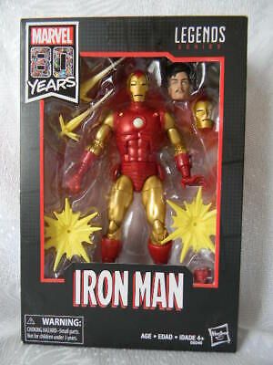 """MARVEL 80 Years Legends Series IRON MAN 6"""" Action Figure BRAND NEW FREE SHIPPING"""