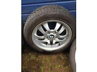 Set of 4 Goodyear Ultragrip 8 winter tyres on BMW alloy wheels