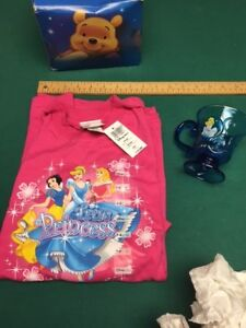 DISNEY STORE Princess Shirt and cup (new)