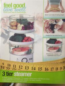 3 TIER STEAMER-YOUR WAY TO LOSING WEIGHT - FEEL GOOD LIVE WELL ®