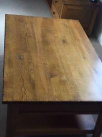 Distressed solid NZ oak coffee table