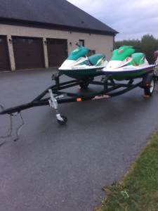 Two Seadoo's Plus Double Trailer - 1993 and 1996